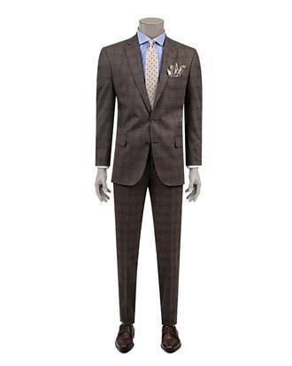 Ds Damat Comfort Fit Comfort Fit Kahve Takım Elbise - 8681778571071 | D'S Damat