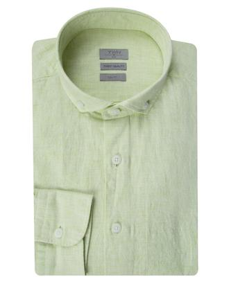 Twn Slim Fit Yeşil Armürlü Gömlek - 8681779025603   D'S Damat