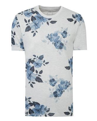 Twn Slim Fit Karma Renk Baskılı T-shirt - 8681779015529   D'S Damat