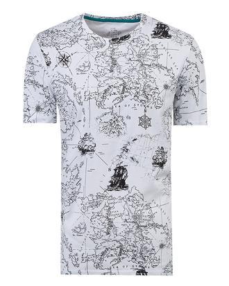 Twn Slim Fit Beyaz Baskılı T-shirt - 8681779028130 | D'S Damat