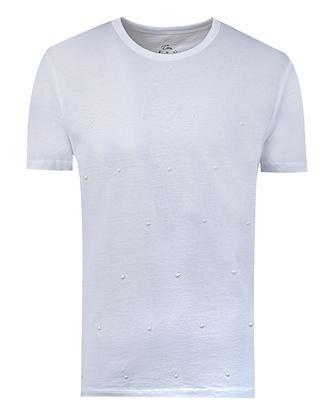 Twn Slim Fit Beyaz T-shirt - 8681779295600 | D'S Damat