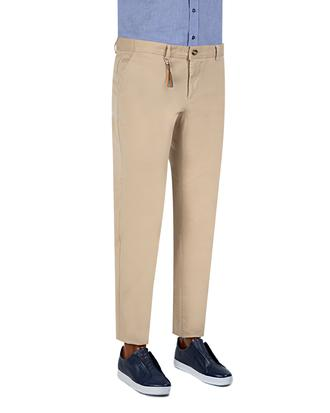 Twn Slim Fit Bej Düz Chino Pantolon - 8681779344957 | D'S Damat