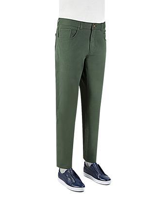 Twn Slim Fit Yeşil Düz Chino Pantolon - 8681779295631 | D'S Damat