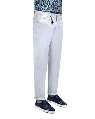 Twn Slim Fit Beyaz Düz Denim Pantolon - 8681779297581 | D'S Damat