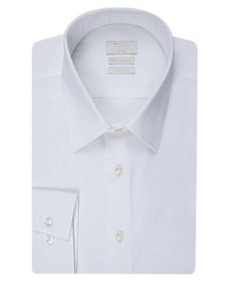 Twn Slim Fit Beyaz Düz Gömlek - 8681779029335 | D'S Damat