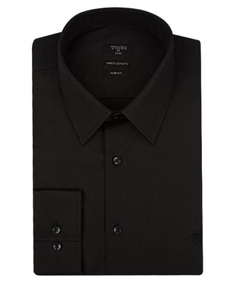Twn Slim Fit Siyah Düz Gömlek - 8681779841081 | D'S Damat