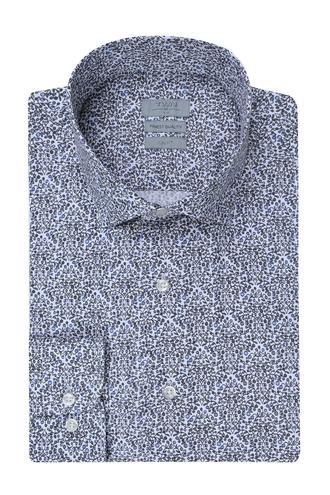 Twn Slim Fit Beyaz Baskılı Gömlek - 8681779297734 | D'S Damat