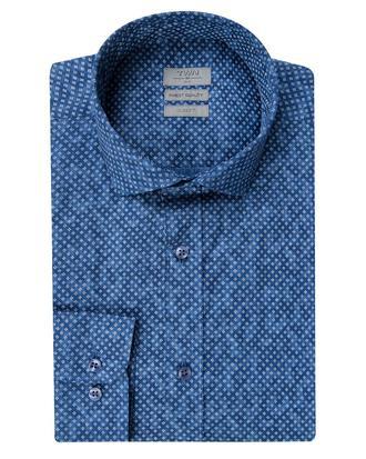 Twn Slim Fit Lacivert Baskılı Gömlek - 8681779297826 | D'S Damat