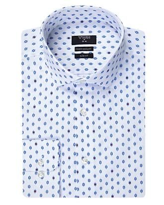 Twn Slim Fit Beyaz Desenli Gömlek - 8681779298281 | D'S Damat