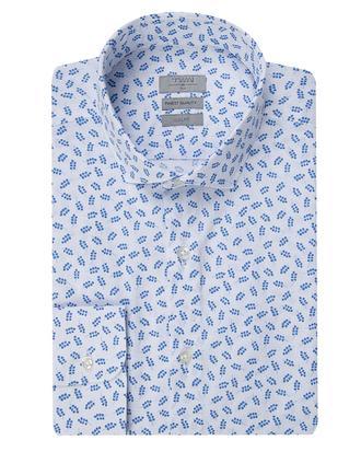 Twn Slim Fit Beyaz Baskılı Gömlek - 8681779101062 | D'S Damat