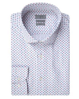 Twn Slim Fit Beyaz Baskılı Gömlek - 8681779859505 | D'S Damat