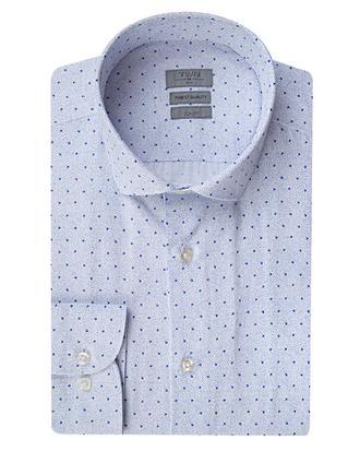 Twn Slim Fit Mavi Baskılı Gömlek - 8681779030812 | D'S Damat