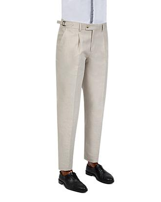 Twn Slim Fit Bej Düz Kumaş Pantolon - 8681779299363 | D'S Damat