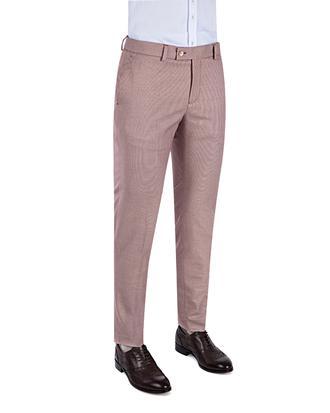 Twn Slim Fit Kırmızı Armürlü Kumaş Pantolon - 8681779299929 | D'S Damat