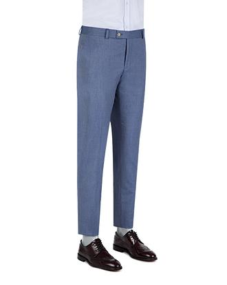 Twn Slim Fit Mavi Desenli Kumaş Pantolon - 8681778944677 | D'S Damat