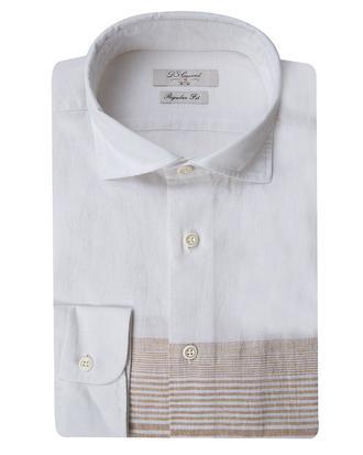 Ds Damat Regular Fit Beyaz Pano Desen Gömlek - 8681779167921   D'S Damat