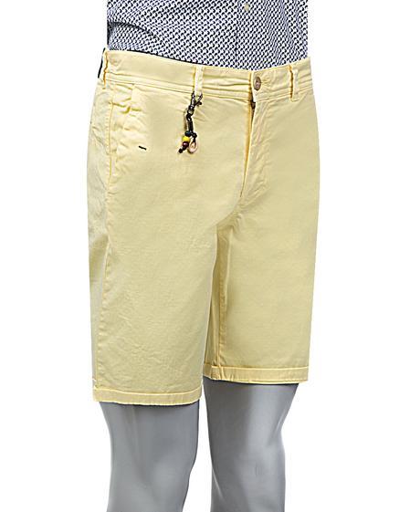 Ds Damat Slim Fit Sarı Düz Şort - 8681779556060 | D'S Damat