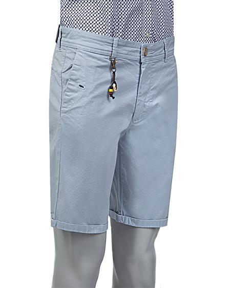 Ds Damat Slim Fit Mavi Düz Şort - 8681779556282 | D'S Damat