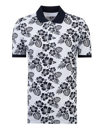 Ds Damat Slim Fit Beyaz Baskılı T-shirt - 8681779111733 | D'S Damat