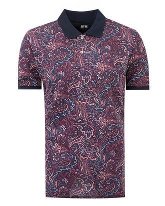 Ds Damat Slim Fit Karma Renk Baskılı T-shirt - 8681779111788 | D'S Damat
