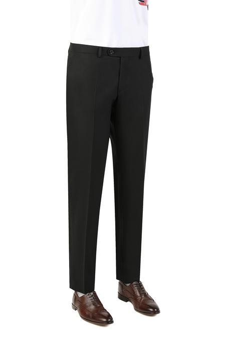 Ds Damat Comfort Siyah Düz Kumaş Pantolon - 8681779949497 | D'S Damat