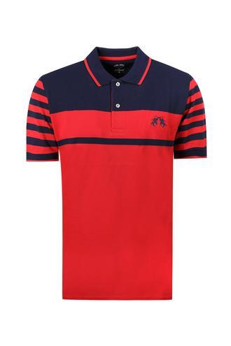 Ds Damat Regular Fit Kırmızı Çizgili T-shirt - 8681779112556 | D'S Damat