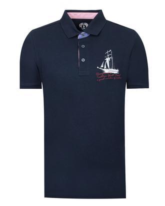 Ds Damat Slim Fit Lacivert Baskılı T-shirt - 8681779113461 | D'S Damat