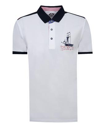 Ds Damat Slim Fit Beyaz Baskılı T-Shirt - 8681779861072 | D'S Damat