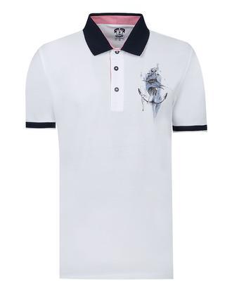 Ds Damat Regular Fit Beyaz Baskılı T-shirt - 8681779113959 | D'S Damat