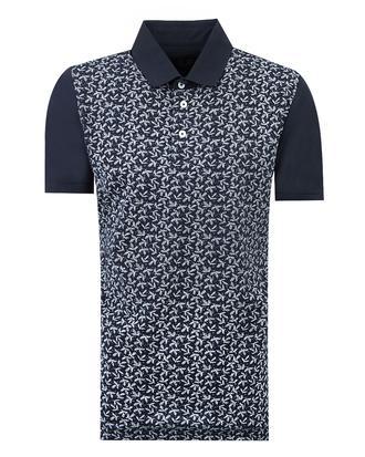 Ds Damat Slim Fit Lacivert Desenli T-shirt - 8681779114840 | D'S Damat