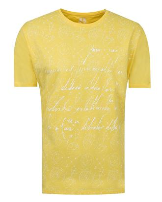Ds Damat Regular Fit Sarı T-shirt - 8681779115304 | D'S Damat