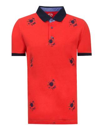 Ds Damat Slim Fit Kırmızı Baskılı T-shirt - 8681779116141 | D'S Damat