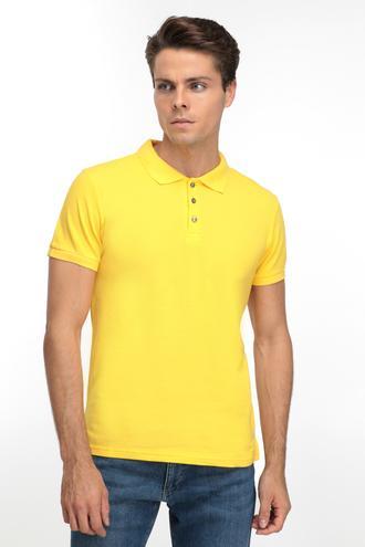 Ds Damat Regular Fit Sarı T-shırt - 8681779765608 | D'S Damat