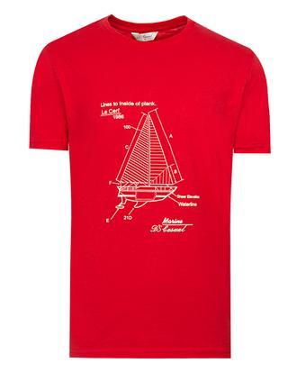 Ds Damat Regular Fit Kırmızı Baskılı T-shirt - 8681779307617 | D'S Damat