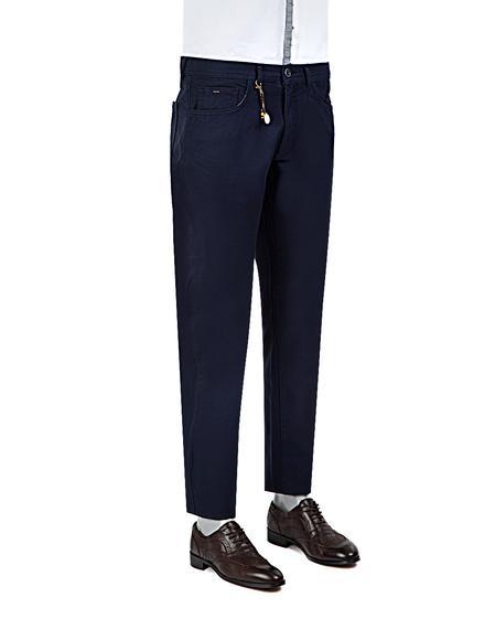Ds Damat Slim Fit Lacivert Armürlü Chino Pantolon - 8681779308652 | D'S Damat
