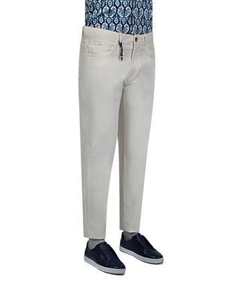 Ds Damat Slim Fit Beyaz Armürlü Chino Pantolon - 8681779308775 | D'S Damat