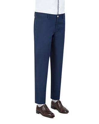 Ds Damat Slim Fit Lacivert Chino Pantolon - 8681779308959 | D'S Damat