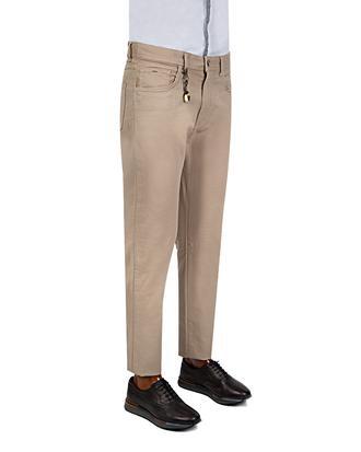 Ds Damat Slim Fit Bej Armürlü Chino Pantolon - 8681779308720 | D'S Damat