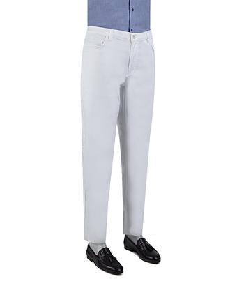 Ds Damat Slim Fit Beyaz Düz Chino Pantolon - 8681779309178 | D'S Damat