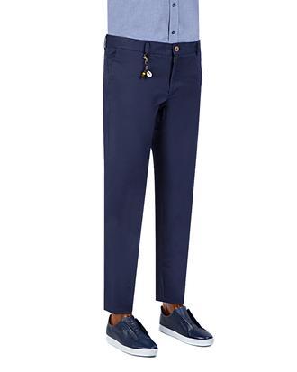 Ds Damat Slim Fit Lacivert Chino Pantolon - 8681779309208 | D'S Damat