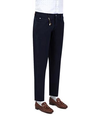 Ds Damat Slim Fit Lacivert Chino Pantolon - 8681779309789 | D'S Damat