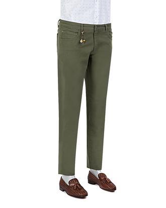 Ds Damat Slim Fit Haki Chino Pantolon - 8681779309864 | D'S Damat