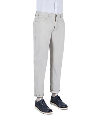 Ds Damat Slim Fit Gri Chino Pantolon - 8681779310556 | D'S Damat