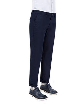 Ds Damat Slim Fit Lacivert Düz Chino Pantolon - 8681779341000 | D'S Damat