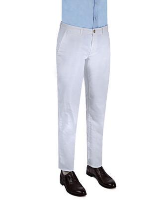 Ds Damat Slim Fit Beyaz Düz Chino Pantolon - 8681779341093 | D'S Damat