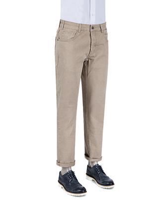 Ds Damat Slim Fit Camel Düz Chino Pantolon - 8681779311348 | D'S Damat