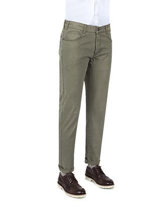 Ds Damat Slim Fit Haki Düz Chino Pantolon - 8681779311454 | D'S Damat