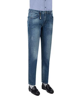 Ds Damat Slim Fit Lacivert Denim Pantolon - 8681779345961 | D'S Damat