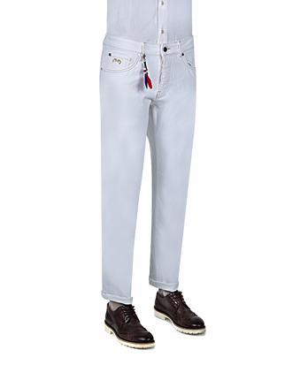 Ds Damat Slim Fit Beyaz Denim Pantolon - 8681779312161 | D'S Damat