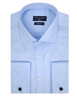 Ds Damat Regular Fit Mavi Düz Gömlek - 8682060151841 | D'S Damat